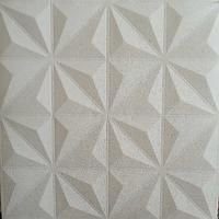Стельова панель біла Сніжинки 116 ПВХ 3Д (самоклеюча м'яка для стелі) 700*700*8 мм