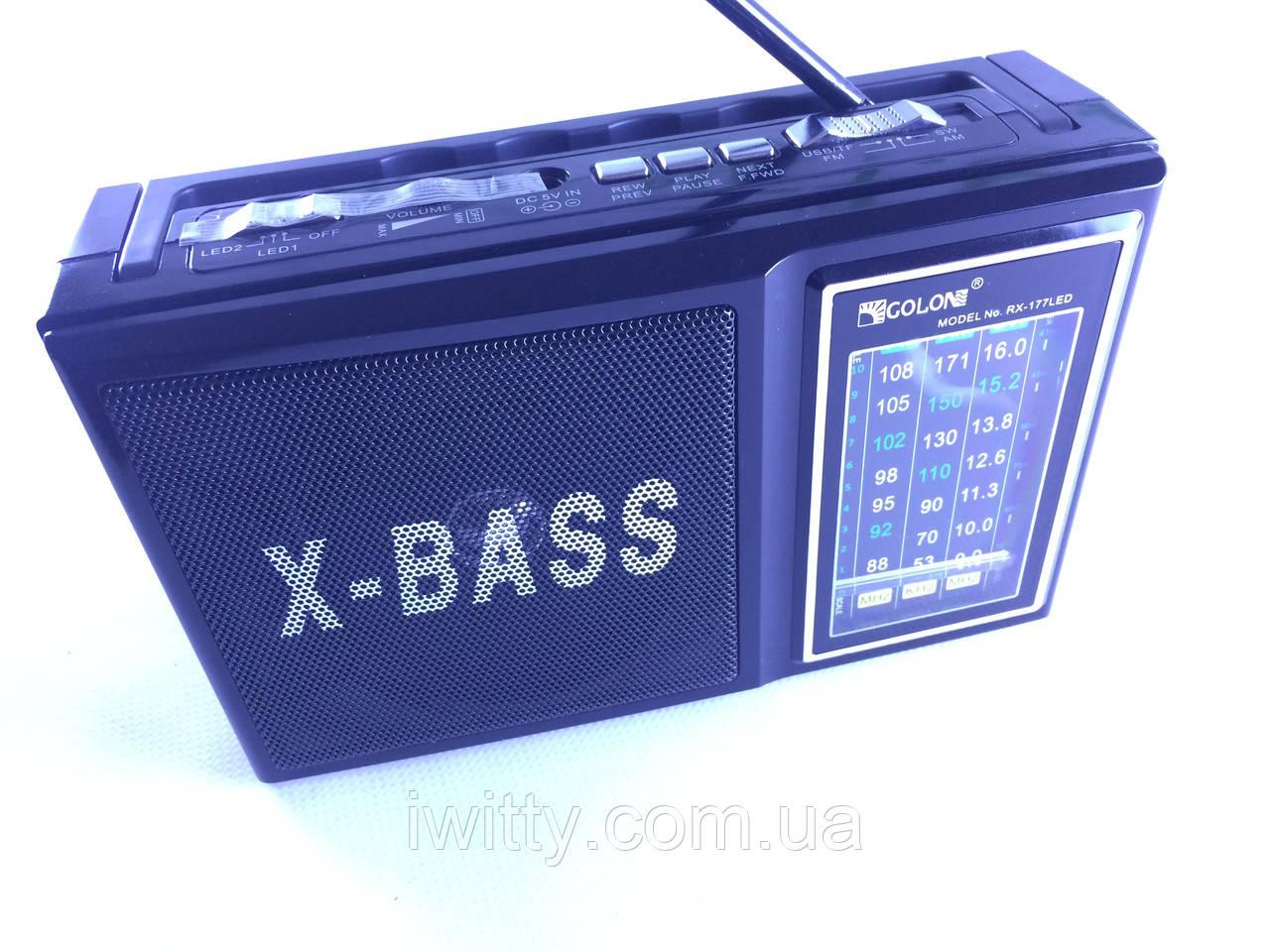 Радіоприймач GOLON RX-166 (USB,Micro USB,AUX)