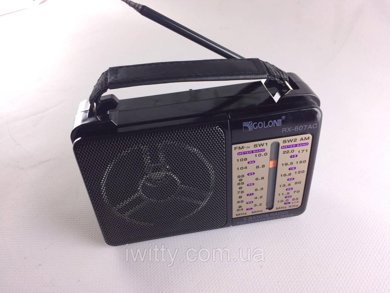 Радиоприёмник  GOLON RX-607 (USB,Micro USB,AUX)