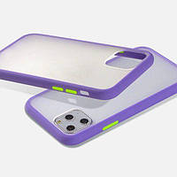 Накладка Gingle Matte Case для iPhone 12 mini lilac/green