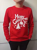 Свитшот мужской красный Merry Christmas Размер 44
