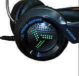 Навушники ігрові - гарнітура провідні VIPBEN V2000 D60, Чорні, фото 4