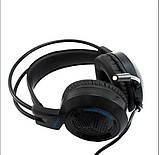 Навушники ігрові - гарнітура провідні VIPBEN V2000 D60, Чорні, фото 5