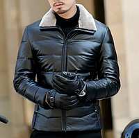 Мужская кожаная куртка. (0359)