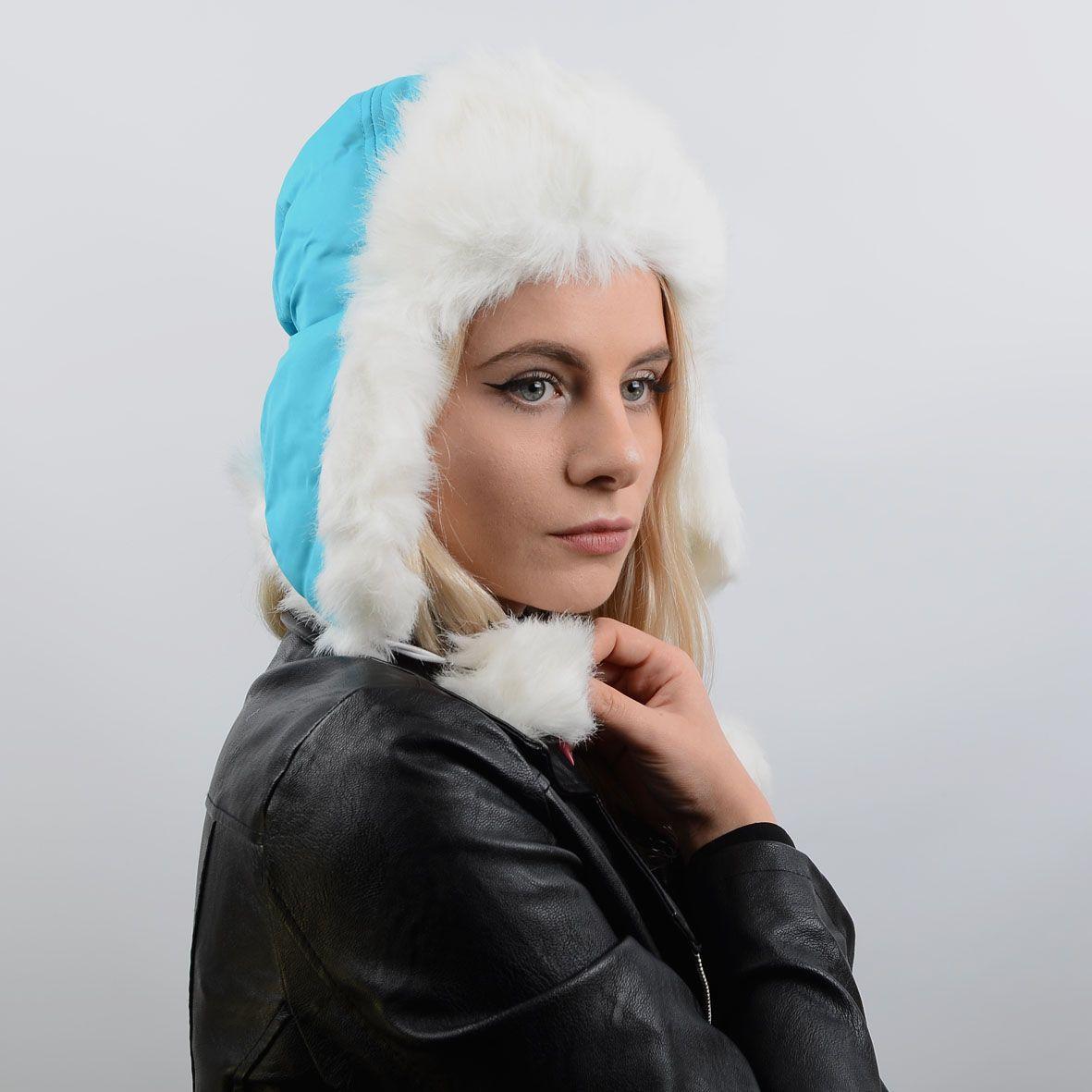 Ушанка женская 13043 голубой