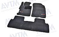Ковры салона Honda Civic 2006-2011 SD 4D черные, Premium ворсовые