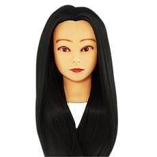 Голова навчальна для моделювання зачісок Брюнет (Чорна)