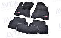 Ковры салона Nissan X-Trail T31 2007-2014 черные, Premium ворсовые