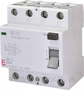 Диференціальне Реле (УЗО) EFI-4 AC 80/0.03