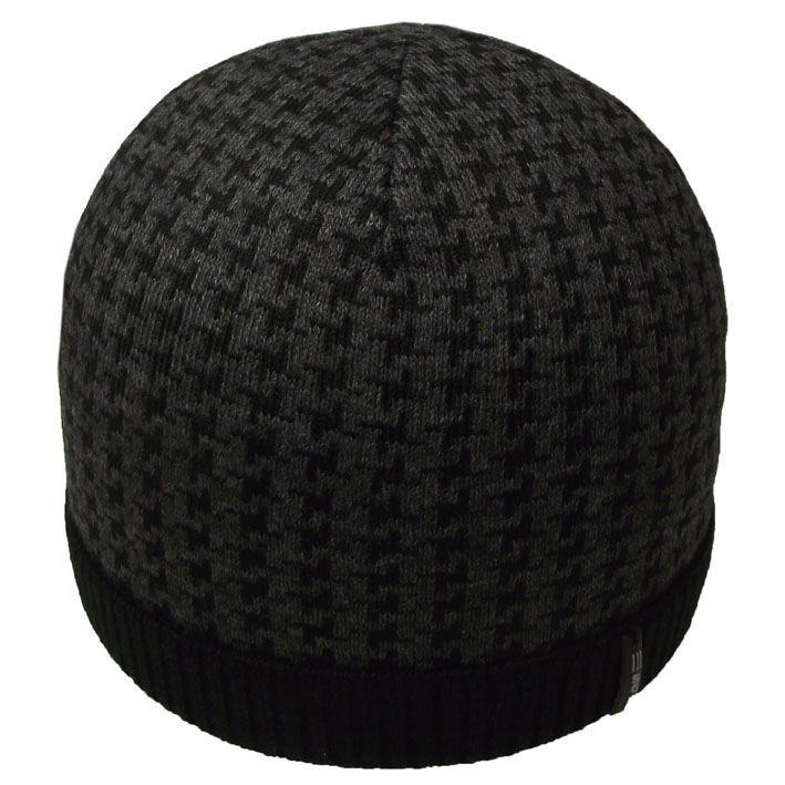 Шапка 12030 черный-тсерый