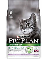 Про План Sterilised сухой корм для стерилизованных кошек с индейкой 3КГ