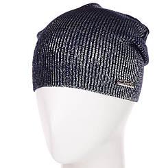 Шапка L19004 темно-синий