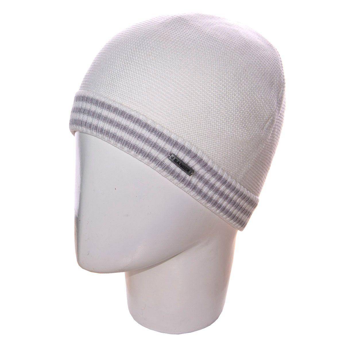 Шапка 12051 белый-свсерый