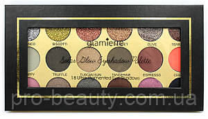 Палітра тіней Glamierre Solar Glow Eyeshadow Palette (18 кольорів)