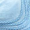 Детское одеяло голубое, покрывало голубое в детскую, пледик детский 100x110см, фото 2