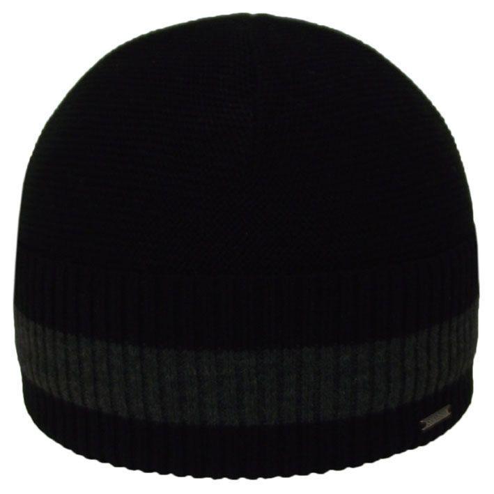 Шапка 12090 черный-тсерый