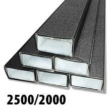 Столб для забора оцинкованный 60*40 с покрытием в цвет штакетника