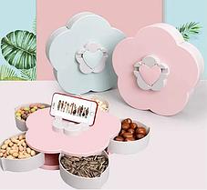 Коробка-органайзер для закусок на 10 отсеков / менажница для сладостей Снек-бокс.ВИДЕООБЗОР., фото 3