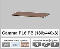 Скляні полиці настінні навісні прямокутні Commus PL6 PB (180х440х8мм), фото 1