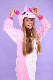 Костюм кигуруми пижама единорог розовый, кигуруми оптом