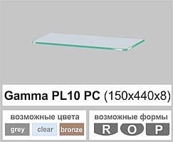 Стеклянная полка прямоугольная Commus PL10 PC (150х440х8мм)