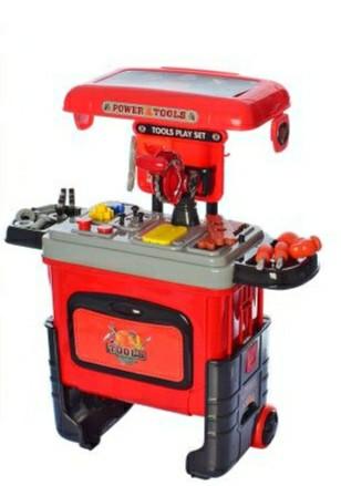 Детский столик чемодан с инструментами - игровой набор для мальчика, 3602A