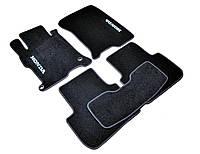 Ковры салона Honda Accord 2012- черные, ворсовые