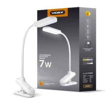 Лампа наст. з прищіпкою, світлодіодна Led Videx VL-TF09W 7W 3000-5500K 220V