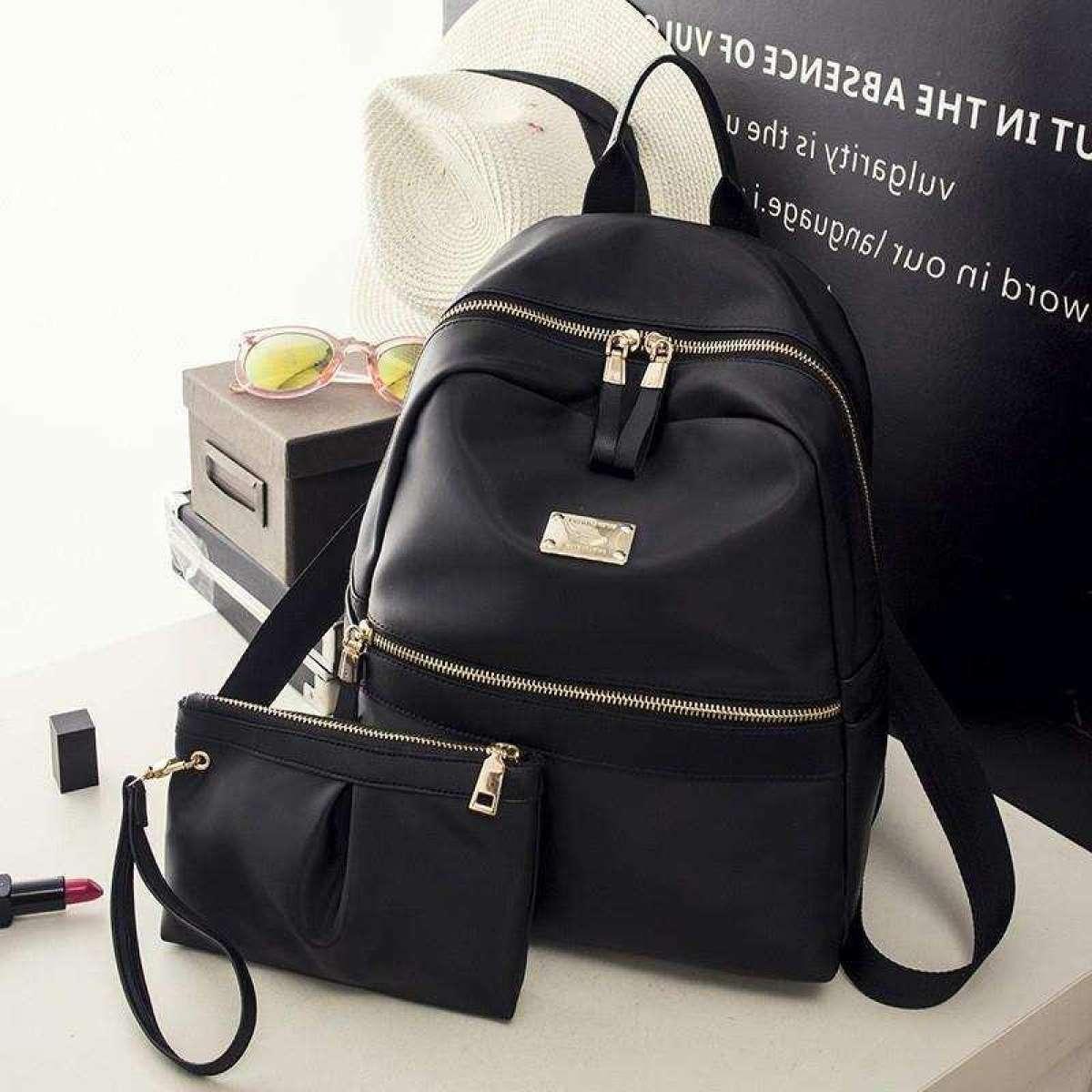 Жіночий рюкзак 2021, міський практичний рюкзак чорного кольору, AL-2542-10