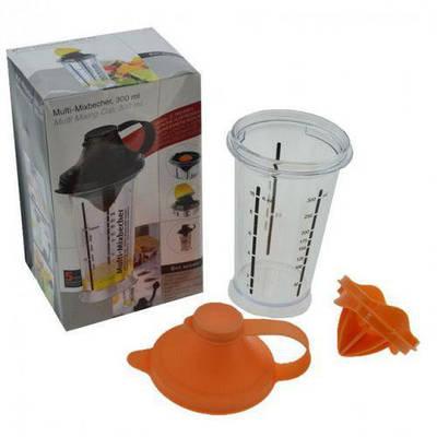 Шейкер-поилка пластик с насадкой для сока и отделения желтка HLV N01237 300 мл
