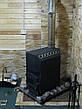 Трубная печь на дровах ТОП-140 с чугунной дверцей со стеклом, фото 5