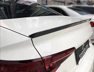 Карбоновый спойлер Audi A4 B9 сабля тюнинг (v1)