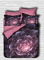Комплект постельного белья LightHouse Ранфорс 3Д Astra Розовый Евро подарок на Новый год 2021