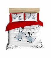 Комплект постельного белья LightHouse Ранфорс 3Д Baby Deers Евро подарок на Новый год 2021