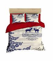 Комплект постельного белья LightHouse Ранфорс 3Д Christmas Deers Евро подарок на Новый год 2021
