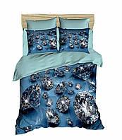 Комплект постельного белья LightHouse Ранфорс 3Д Diamonds Евро подарок на Новый год 2021