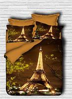 Комплект постельного белья LightHouse Ранфорс 3Д Eiffel Tower Евро подарок на Новый год 2021