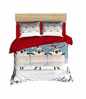 Комплект постельного белья LightHouse Ранфорс 3Д Happy Sheep Евро подарок на Новый год 2021