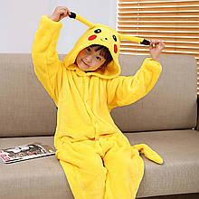 Кигуруми Пікачу піжама цілісна дитячий комбінезон р. 100, 110 жовта