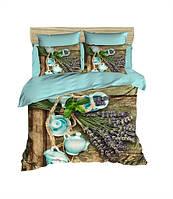 Комплект постельного белья LightHouse Ранфорс 3Д Lavender Евро подарок на Новый год 2021