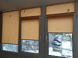 Рулонні штори Len. Тканинні ролети Льон Абрикосовий 2071, 35, фото 2