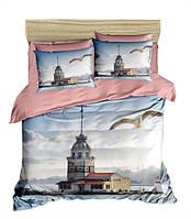 Комплект постельного белья LightHouse Ранфорс 3Д Lighthouse Евро подарок на Новый год 2021