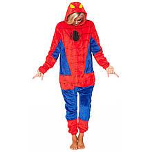 Кигуруми человек паук для взрослых красный пижама костюм комбинезон р.S