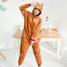 Кигуруми Ведмідь Рилаккума для дорослих костюм піжама комбінезон
