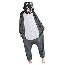 Кигуруми Волк для взрослых костюм пижама комбинезон