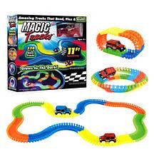 Детский гоночный трек Magic Tracks светящийся в темноте 220 деталей
