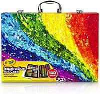 Чемодан Крайола для творчества 140 шт Crayola Inspiration Art Case Color набор карандаши и фломастеры Оригинал
