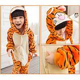 Кигуруми детская пижама тигр для мальчиков и девочек цельный костюм, фото 3