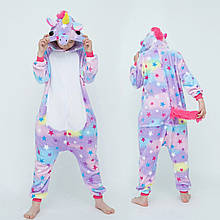 Кигуруми пижама детская Единорог цельная комбинезон для девочек