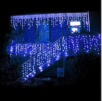 Новогодняя гирлянда бахрома для улицы и помещения 200 LED лампочек,белый и черный провод(кабель),10 метров